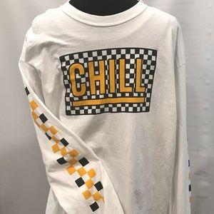 Long Sleeve Heavy Cotton CHILL T Shirt